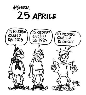 """E' il 25 aprile e non hai soldi per il """"ponte""""? (vignetta di Vauro)"""